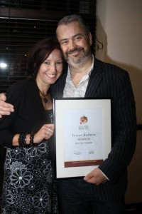 Tracey and Paul Campbell of Travel Butlers at the SATOA Awards.