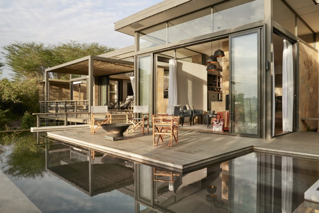 Main Viewing Deck of the Geoffrey Kent Suite at Sanctuary Olonana