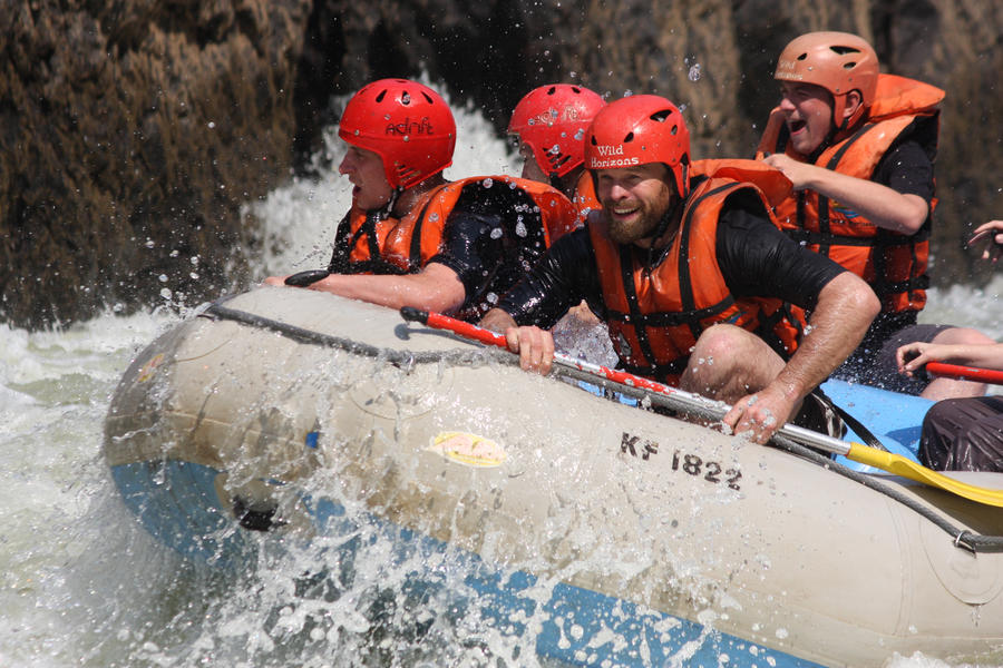 White water rafting down the Zambezi at Victoria Falls with Wild Horizons