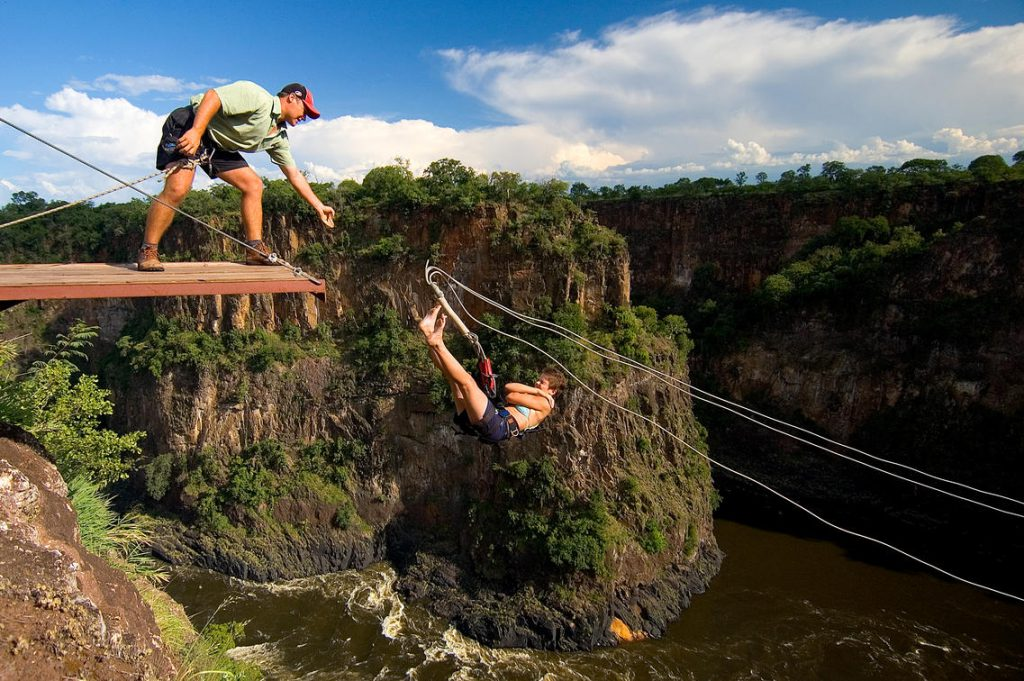The gorge swing at Victoria Falls