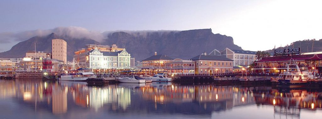 Cape Town Waterfront And Table Mountain