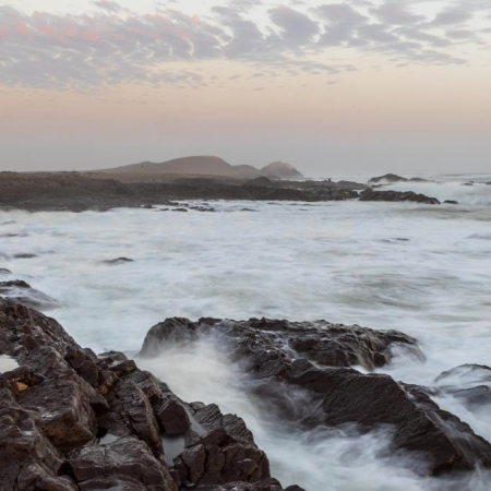 The trecherous Skeleton Coast coastline
