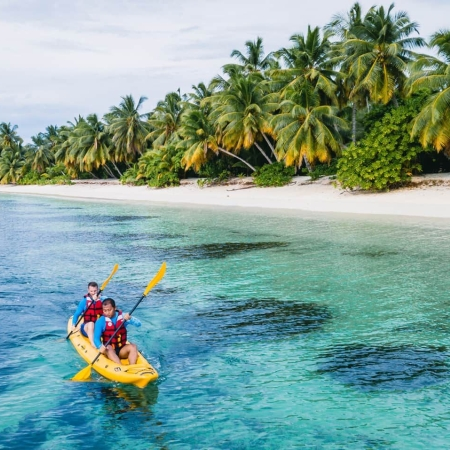 Kayaking off Desroches Island