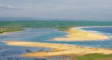 The sandy beaches at Plett