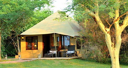 A tented lodge can add romance, comfort and luxury to your safari experience