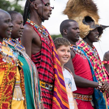 Masaai visit