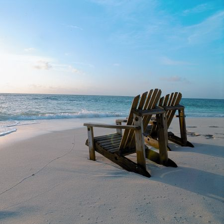 Denis Island beach and sun loungers - your own personal beach paradise