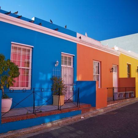 Bo Kaap its colourful homes.