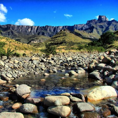 The beautiful scenery in the Drakensberg