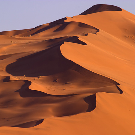 Claim the huge dunes in Namibia's Dune Sea