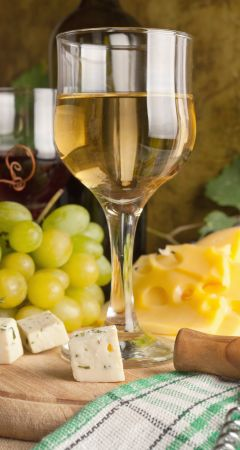 Wine and cheese tasting in Franschhoek.