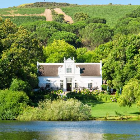 Classic Cape Dutch architecture in the heart of the winelands.