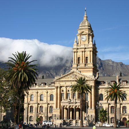 The City Hall where Nelson Mandela first addressed the public after his release from prison.