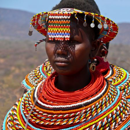 Masai Woman In Traditional Dress