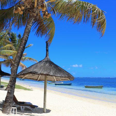 Deserted Beach In Mauritius