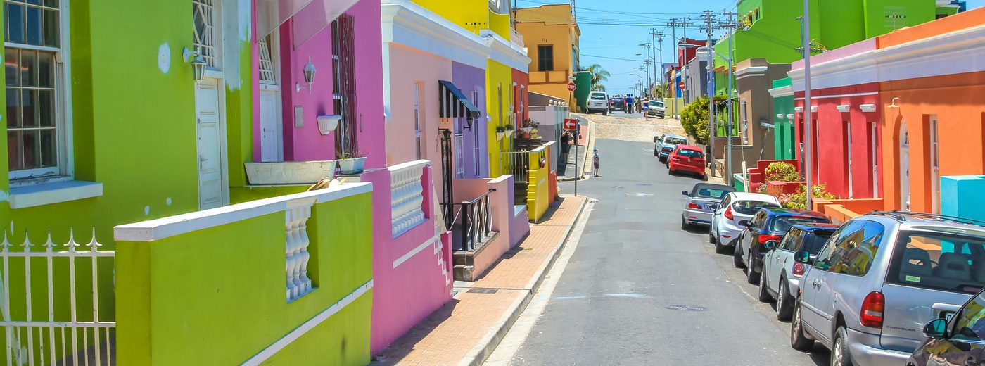 Colourful homes in Bo-Kaap, Cape Town.